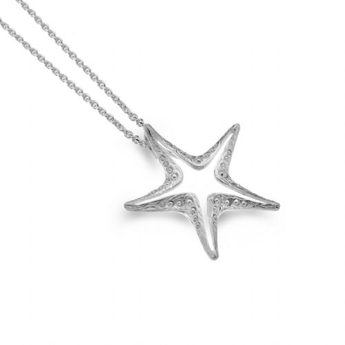 Large Starfish Pendant Sterling Silver 925 Hallmarked All Chain Lengths